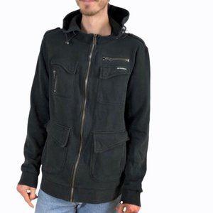 Element Skater Hoodie Sweatshirt Jacket Black XL